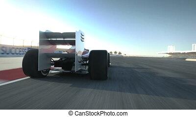 deser,  F1, fahren, Auto, hinten, Rennen