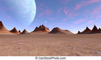 Desert - 3D CG rendering of desert