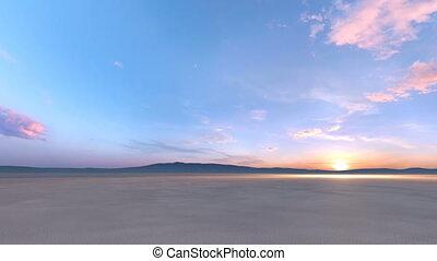 Desert - 3D CG rendering of the desert.
