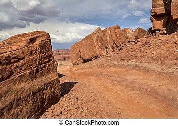desert 4WD road near Moab, Utah