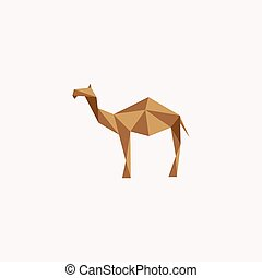 Desert Animal Camel Logo