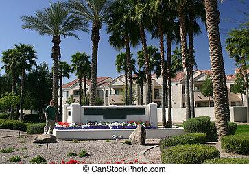 Beautiful desert apartment complex in Arizona