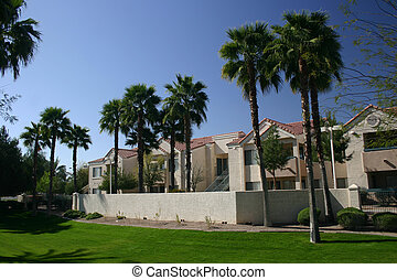Desert Apartments - Southwestern style apartment complex in...