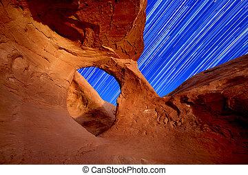 Desert Arch Star Trails