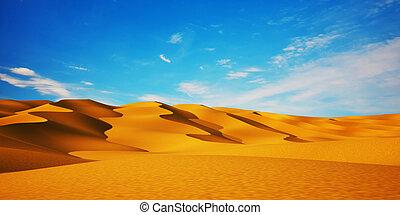 Desert & blue sky