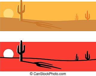 Desert cactus background