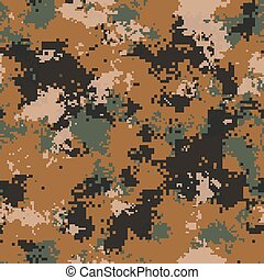 Desert Camouflage. Seamless Tileable Texture. - Desert...