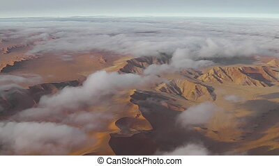 desert clouds flight