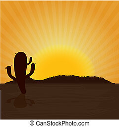 desert design over sunny background vector illustration