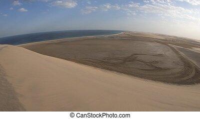 Desert dunes landscape - Desert landscape sand dunes near...