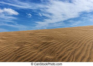 Desert dunes sand in Maspalomas