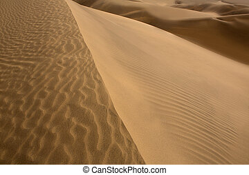 Desert dunes sand texture in Maspalomas Gran Canaria at Canary islands