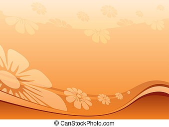 Desert flowers - Summer flower background created in desert ...