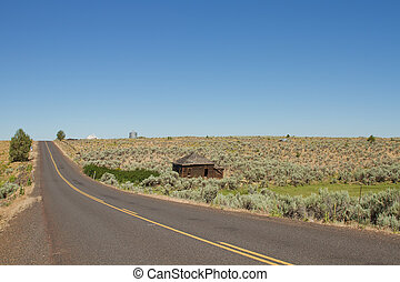Desert Highway in Central Oregon