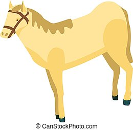 Desert horse icon, isometric style