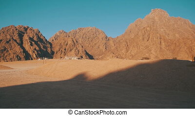 Desert in Egypt, Sand and Mountains. Rocks and Sand in the...