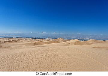 Desert in Huacachina, Peru