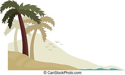 Desert island corner