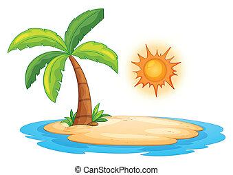 Desert island - Illustration of a desert island