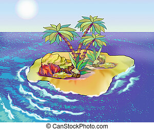Desert Island in a Summer Day