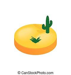Desert isometric 3d icon