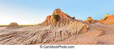 Desert landforms scenic panorama - Eroded desert landforms ...