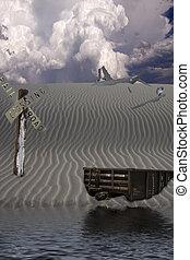 Desert Landscape After Man