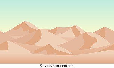 Desert landscape background. with sand dunes