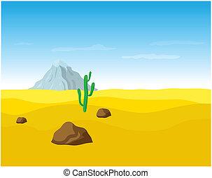 desert landscape - desert sand landscape, vector...