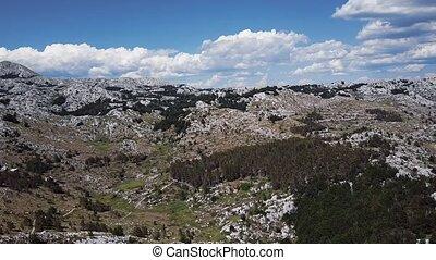 Desert landscape in Biokovo Mountains, Croatia.