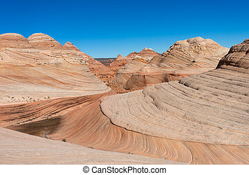 coyote butte wilderness area - desert landscape in coyote ...