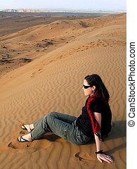 Desert Landscape in Oman
