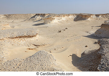 Desert landscape in Qatar, Middle East