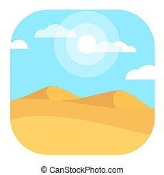 Desert Landscape Modern Conceptual Design Illustration Vector