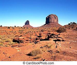 Desert landscape of Monument Valley