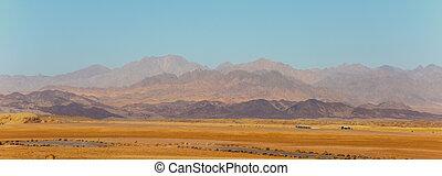 Desert landscape of national park Ras Mohammed, Sinai, Egypt