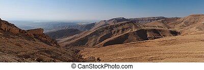 Desert landscape panorama
