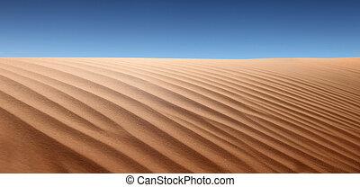 Desert Landscape - Panoramic view of desert landscape. No ...