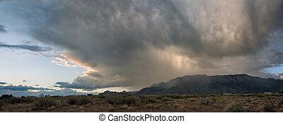 Desert Landscape: Supercell over Sandia Mountains