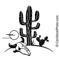 Desert landscape with Cactuses. Arizona desert cactuses ...