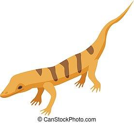 Desert lizard icon, isometric style