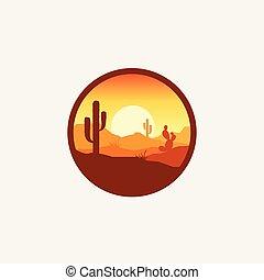 desert logo design illustration