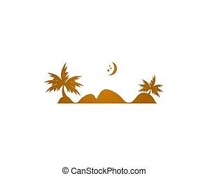 Desert logo design illustration vector template