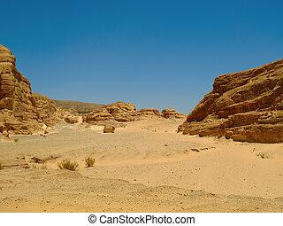 desert., montañas, áfrica