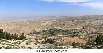 desert mountain landscape, Jordan, Middle East