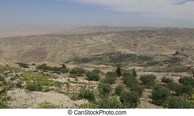 desert mountain landscape, Middle East, Jordan