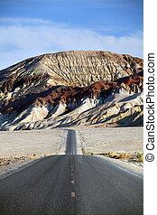 desert mountain road - death valley CA