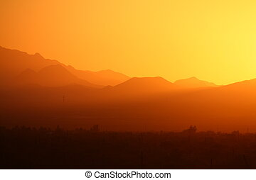 Desert Mountain sunset