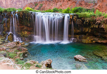 Beautiful waterfalls in the Havasu area in the Grand Canyon