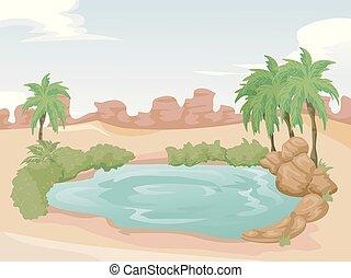 Desert Oasis Illustration